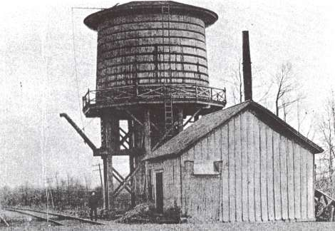 GTW Haslett Station and water tower